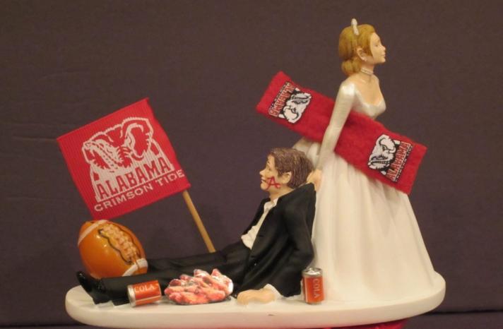 Funny wedding cake topper basketball obsessed groom