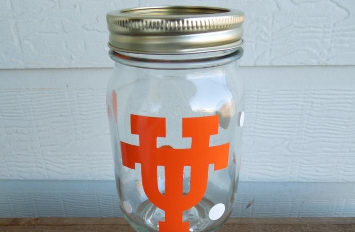 Texas U redneck wine glass