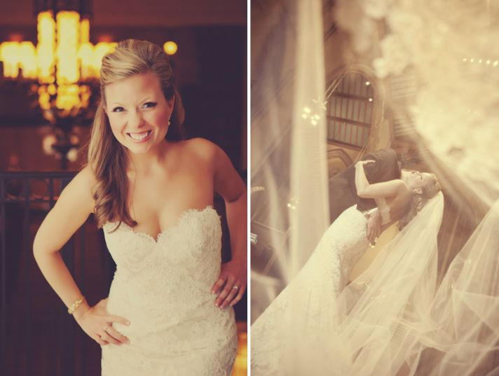 Romantic wedding photo lace wedding dress