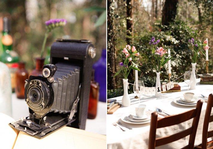 Vintage wedding decor rental