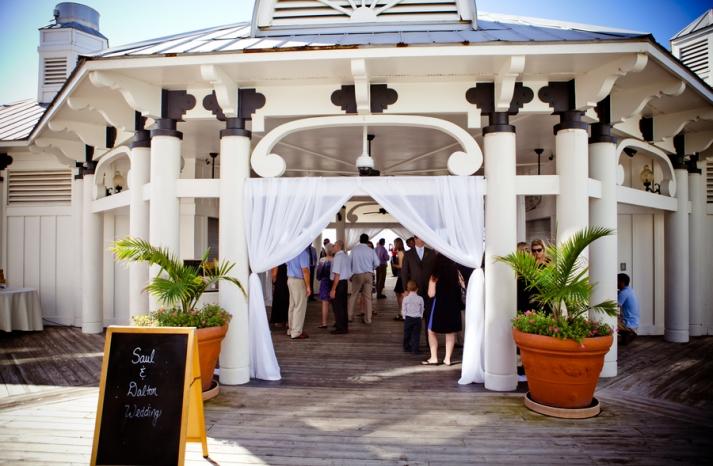 Destination wedding venue beachy pagoda