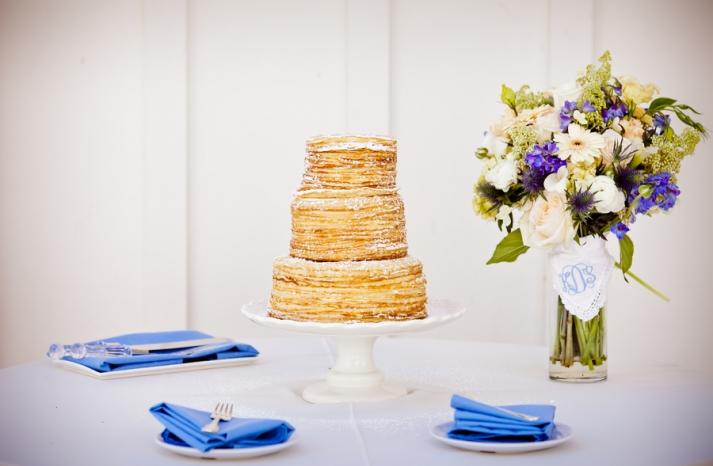 Layers of Crepes wedding cake
