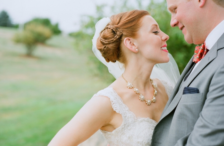 Silky Smooth Wedding Updos with braid