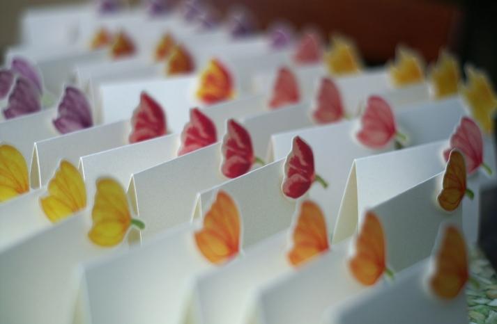 pretty tulip wedding escort cards