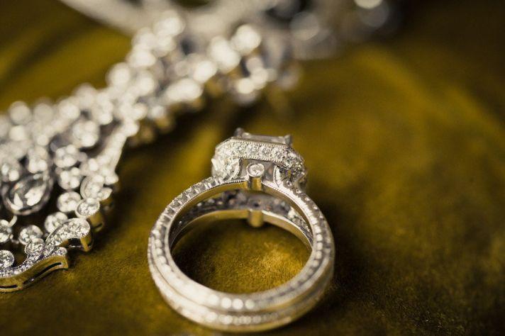 Gorgeous engagement ring wedding photo