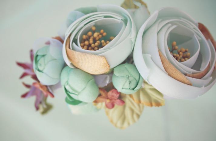 Wedding Flower Alternatives Bridesmaid Headband