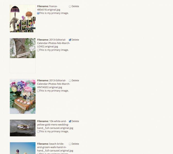 blog how to upload photos vendors delete