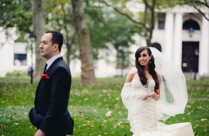 Philadelphia Wedding Photography First Look Approach 1