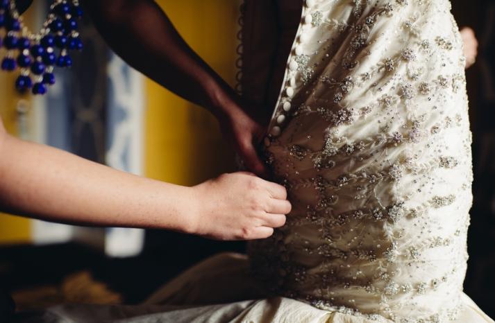 Ines Di Santo Wedding Dress Detail Shot