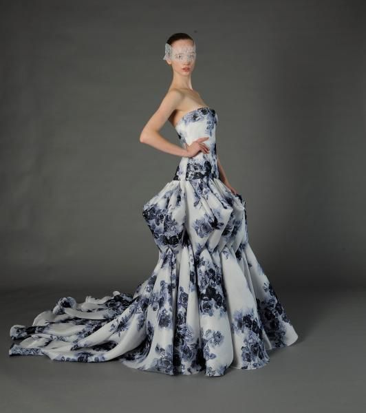 Bride Chic 5 Trends for Fall 2014 Prints Douglas Hannant Spring 2013