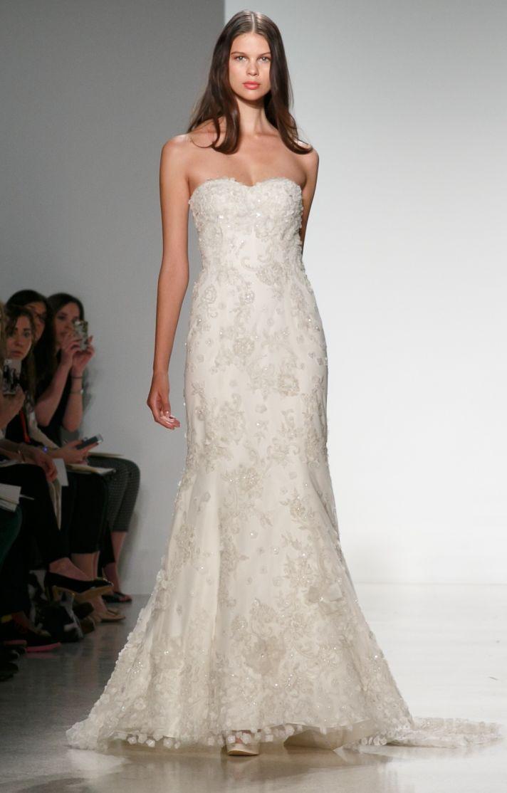 Christos Wedding Dresses Christos Lace Aline Strapless Wedding