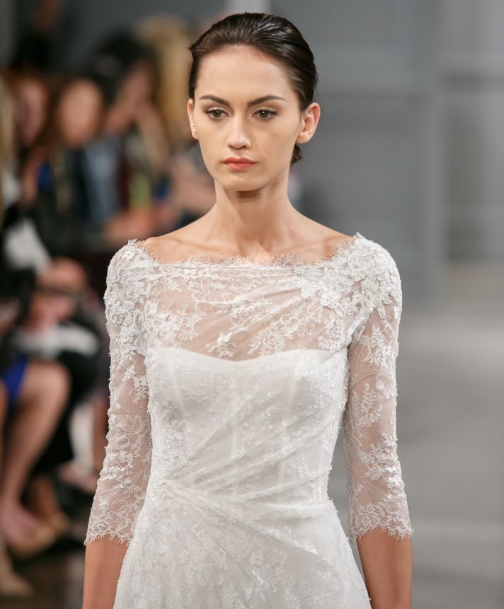 From city hall to the altar monique lhuillier spring 2014 for City hall wedding dresses nyc