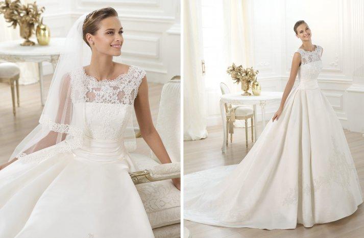 Pronovias wedding dress pre 2014 bridal costura Laudin