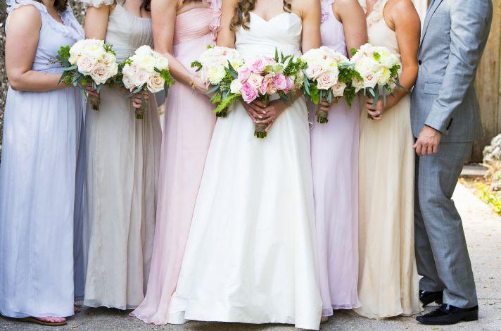 Pastel mix and match bridesmaids Florida Wedding 1