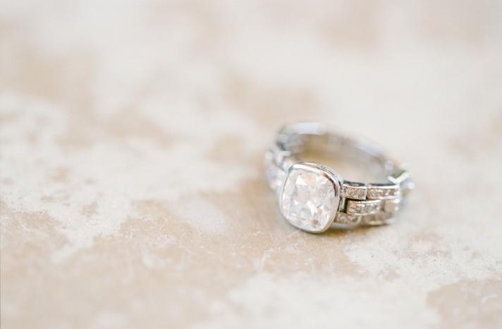 Unique engagement ring setting romantic photo