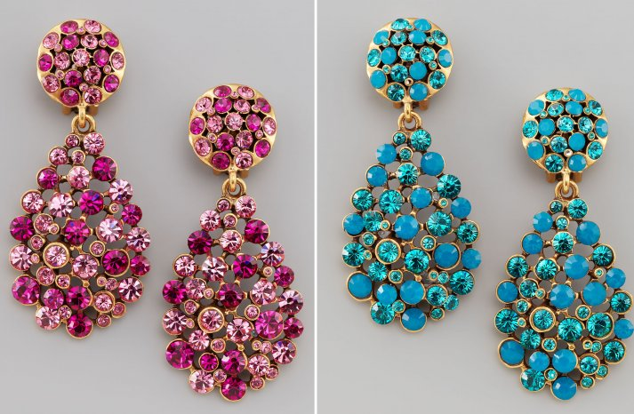 statement wedding jewelry for 2013 brides Oscar de la Renta earrings