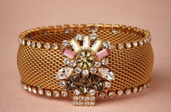 Bold wedding jewelry from BHLDN gold cuff