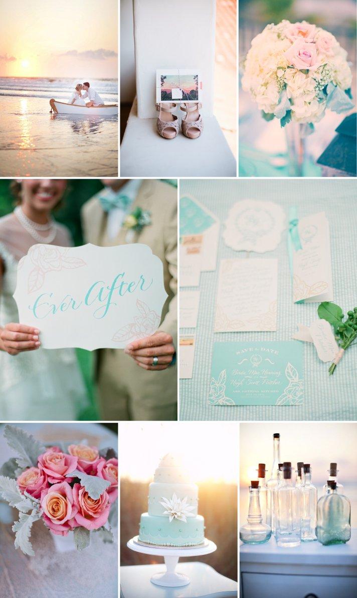 Sunset inspired wedding color palette