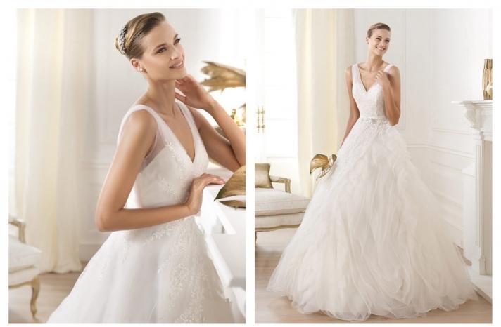 Pronovias wedding dress pre 2014 bridal Dreams collection Lehen