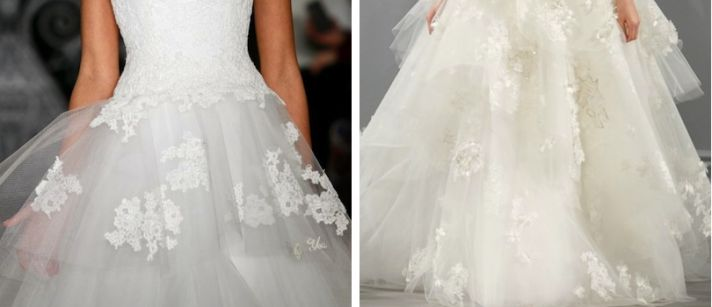 1 lace wedding dress trends spring 2014 fall 2013 reem acra monique lhuillier tull ball gown