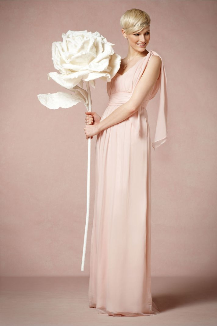 Sweetheart neckline long bridesmaid dress by BHLDN