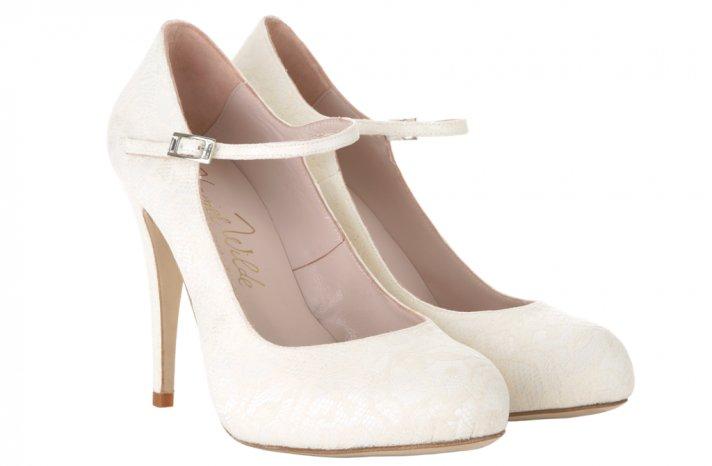Wedding shoes by Harriet Wilde bridal heels Martha Lace