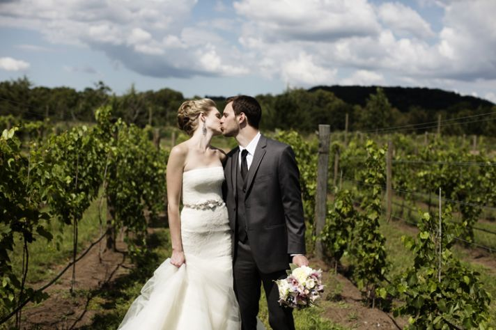 Winery wedding in Illinois real weddings venue