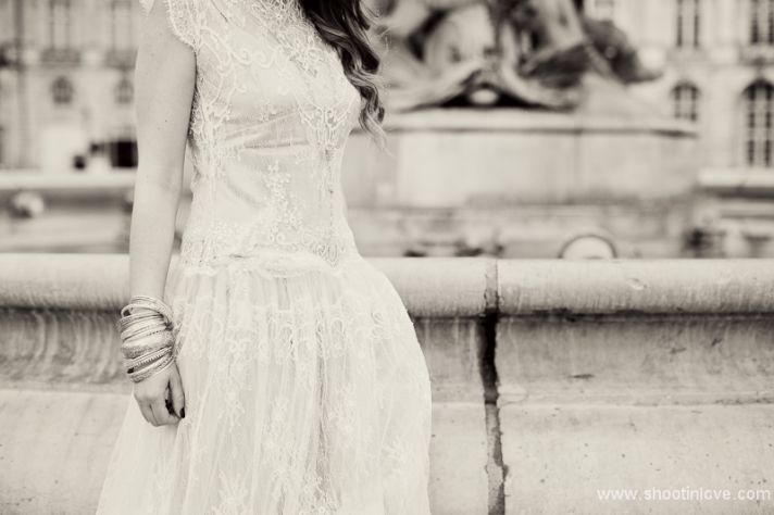 Manon Pascual wedding dress bridal shoot vintage romance 3