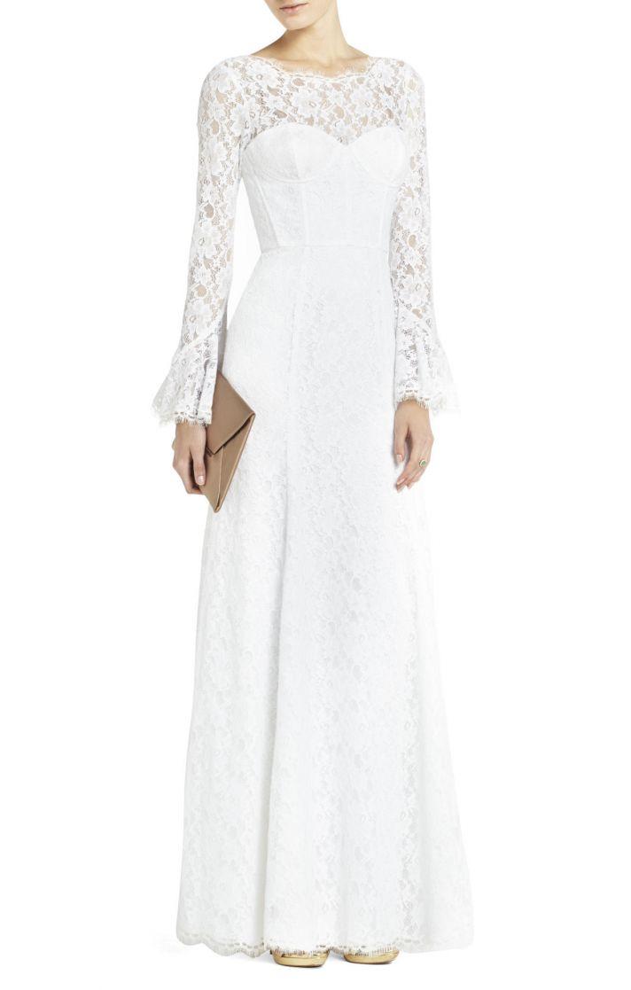 BCBG wedding dress Max Azria Bridal Salina with sleeves