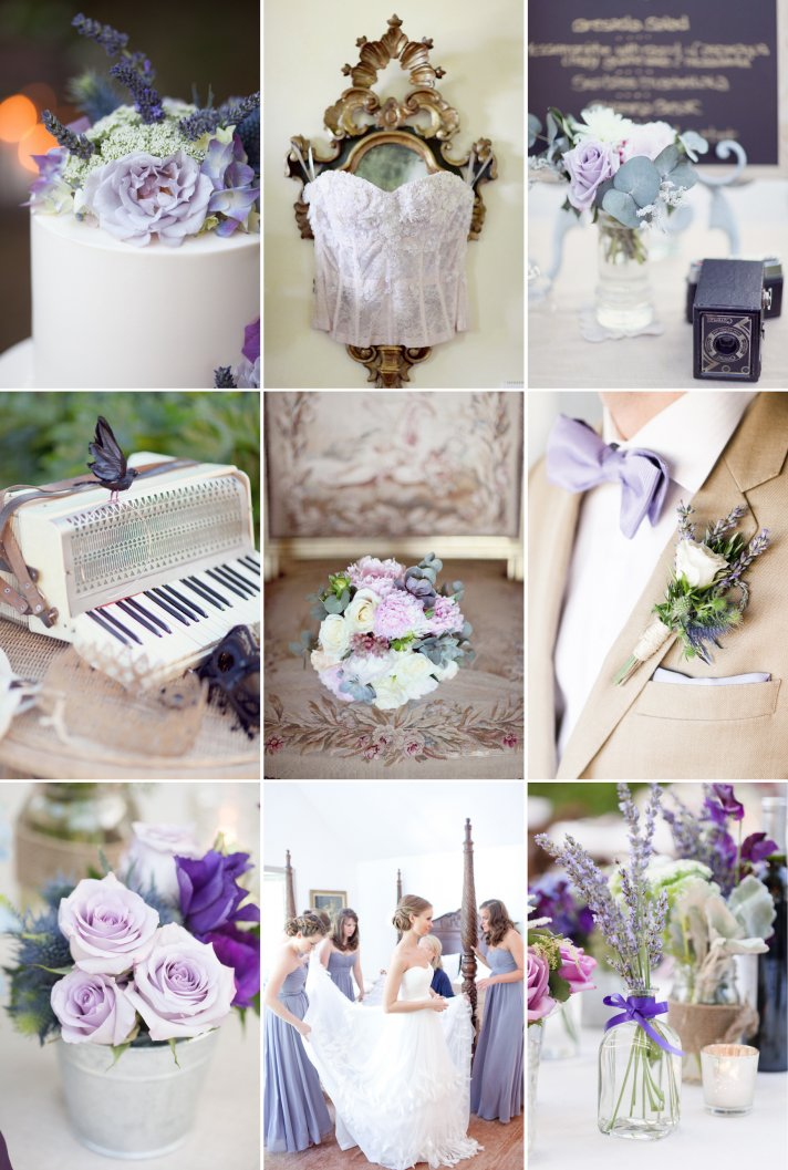 Summer wedding colors shades of purple