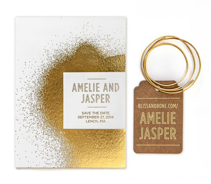 Bliss and Bone Wedding Collection customized invitations Reverence