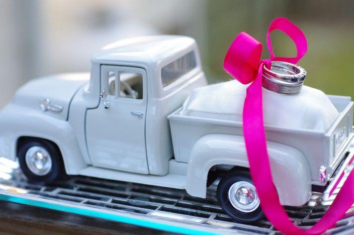 pickup truck wedding ring dish