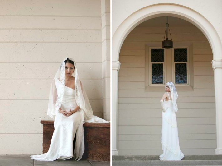 Vintage wedding veils Gatsby meets Downton Abbey