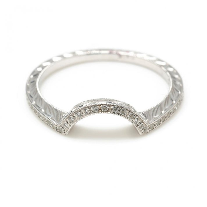 Perfect fit wedding bands shadow band with diamonds