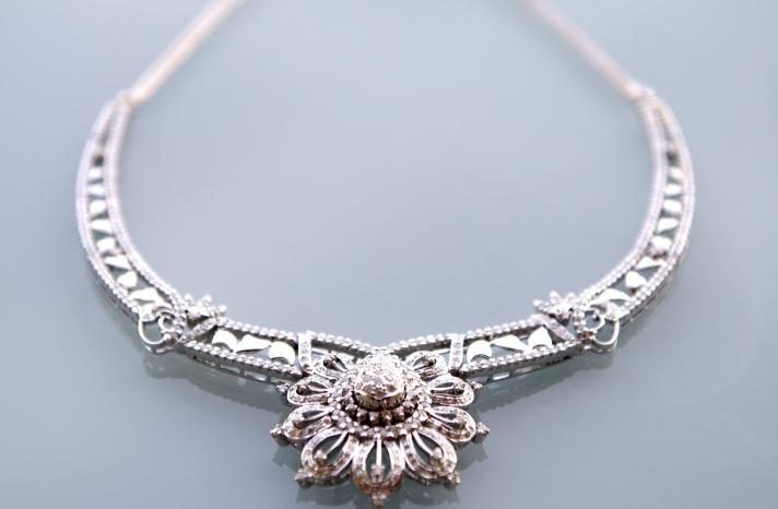 Statement wedding necklace heirloom jewelry