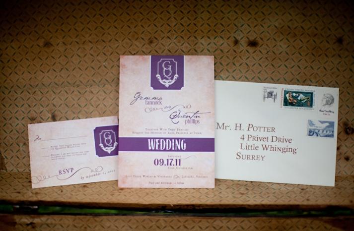 Harry Potter wedding invitation suite