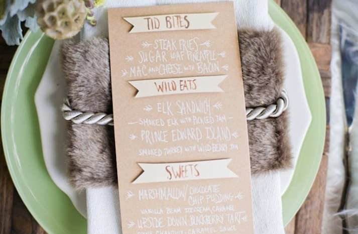 Where the Wild Things Are wedding theme reception place setting