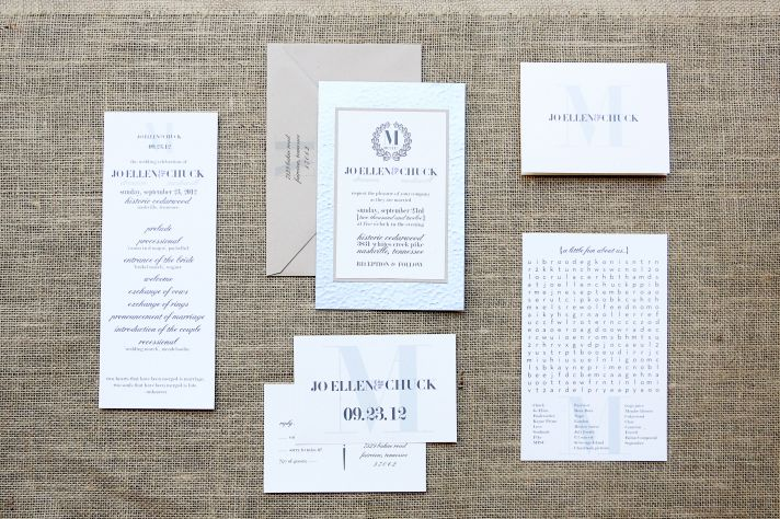 Sweet southern wedding elegant invitations