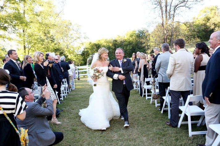 Bride and groom exchange vows at Cedarwood ceremony