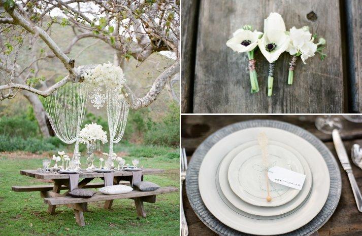 Elegant glamping wedding decor inspiration