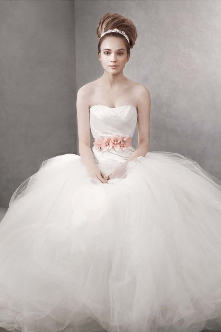 White by Vera Wang wedding dress style vw351007