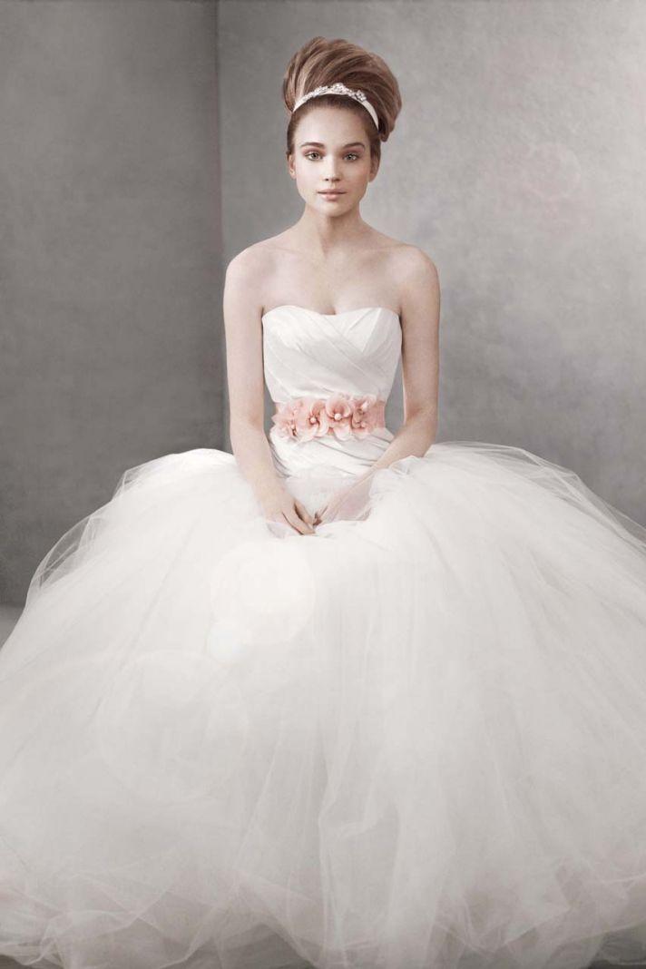 White by Vera Wang wedding dress style vw351007