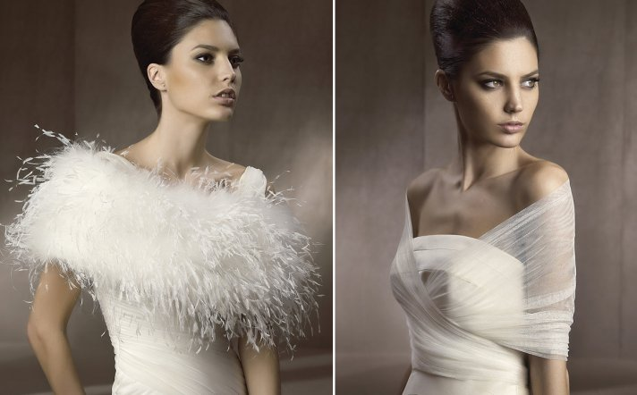 Pronovias bridal capes and cover ups