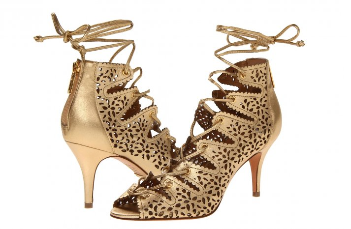 Glamorous gold wedding shoes Schutz