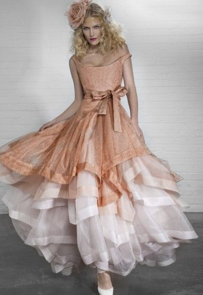 peach wedding dress by Vivienne Westwood