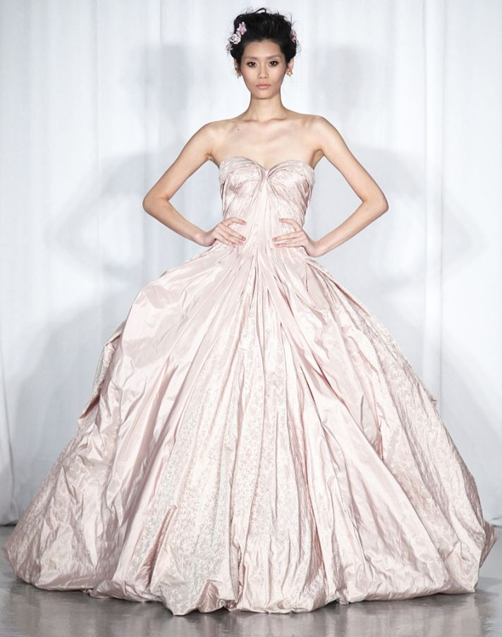 Spring 2014 RTW wedding worthy dresses Zac Posen blush ball gown