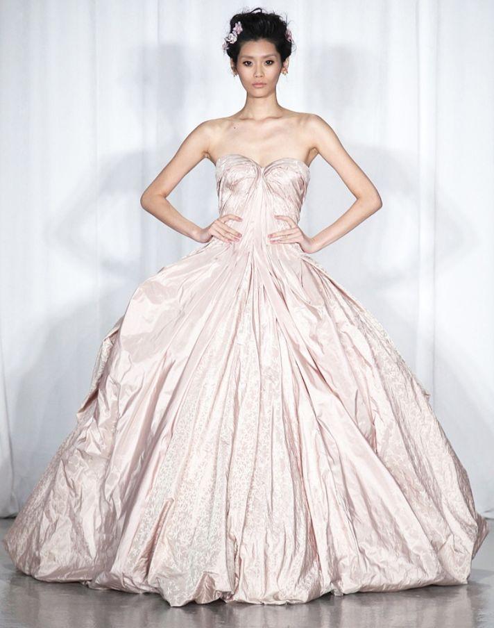 Spring 2014 RTW wedding worthy dresses Zac Posen blush ball gown