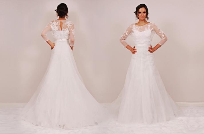 Cornelia Minetta two piece wedding dress by Sunjin Lee 2014 bridal