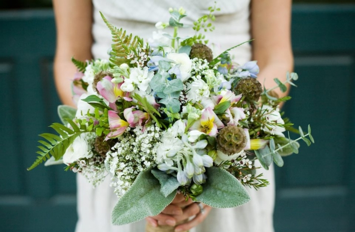 whimsical fall forest wedding bouquet