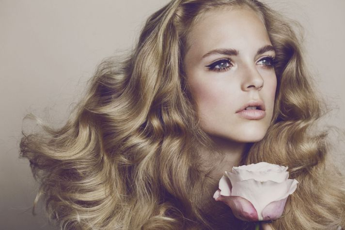 high fashion wedding hair and makeup 60s romance